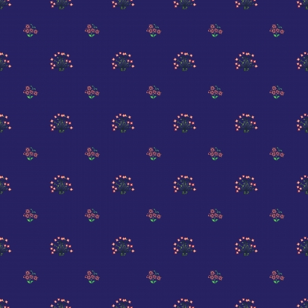 spacey: small flower pattern on a blue background Illustration