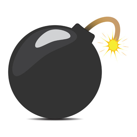 a cartoon bomb with a shadow underneath it Vector