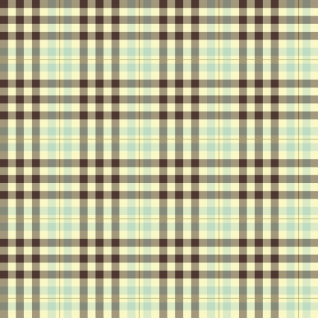 Cream and brown plaid seamless repeating pattern Vector