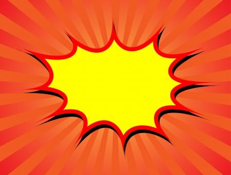 a cartoon explosion background with a sunburst background 向量圖像