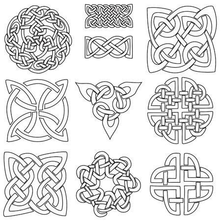 Celta-colección De Arte Sobre Un Fondo Blanco. Ilustraciones ...