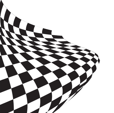 abstract chequered flag on a white background