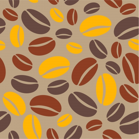 a coffee bean seamless repeating pattern in shades of brown Vector