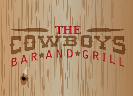discolored: a western style restaurant sign that can be easily modified