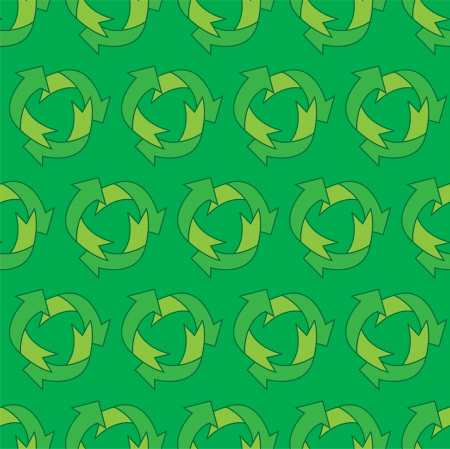 Eco seamless repeating pattern of arrows Vector