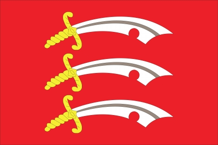 red flag up: The County flag of Essex in England Illustration