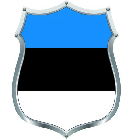 The estonian flag in a shield  Vector