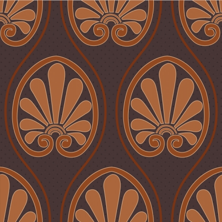 neoclassical: a greek inspired seamless pattern in shades of brown Illustration