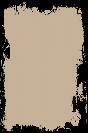 unclean: A grunge border on a brown background Illustration