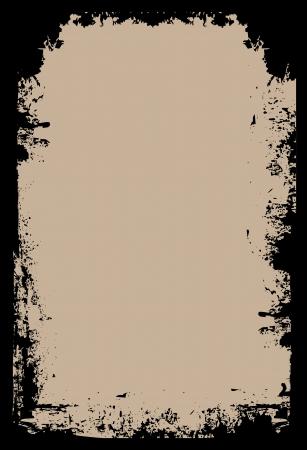 Une frontière grunge sur un fond brun