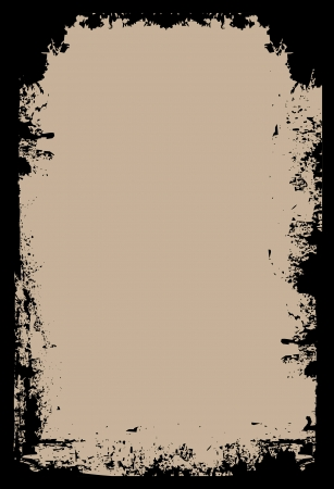 fond brun: Une fronti�re grunge sur un fond brun