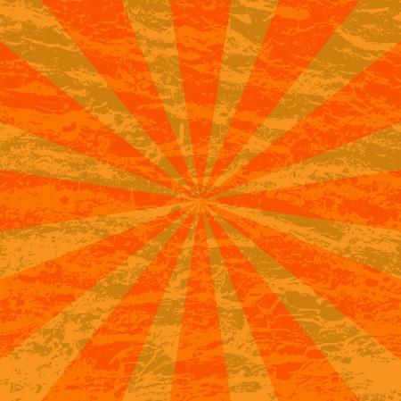 radiate: an two tone orange grunge sunburst background