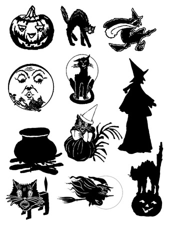 a selection of halloween images  Vector