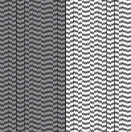 blanket fish: two herringbone seamless repeating patterns in black & white and black and grey