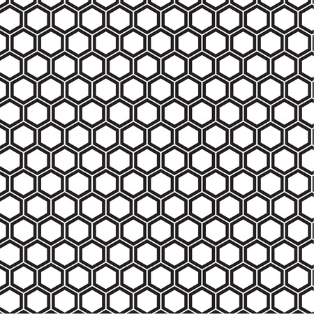 mead: a seamless honeycomb pattern with thick outlines