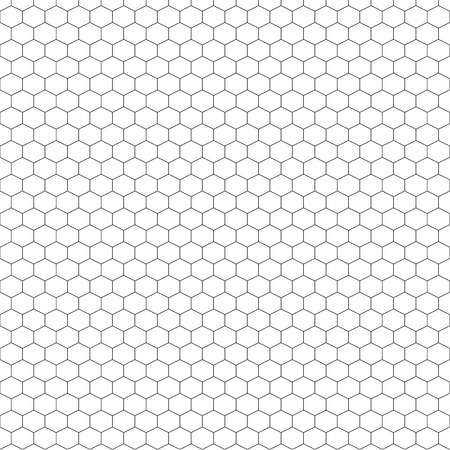 A honeycomb outline seamless pattern that can be resized and recoloured...saved at EPS10 Vector