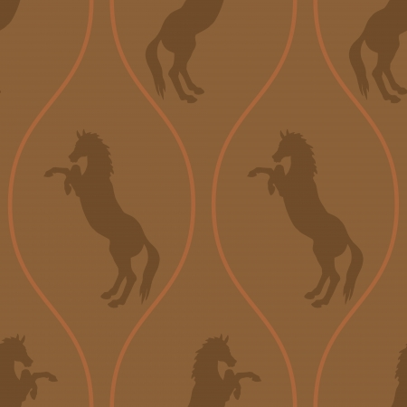 hind: horse on its hind legs in a repeating seamless pattern