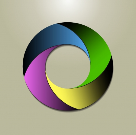 business cycle: a circular logo design in four colours Illustration