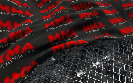 MMA concept texture background. 3D Illustration. Stock Photo