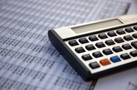 Financial calculator photo
