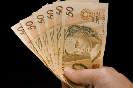 Brasilian real notes photo