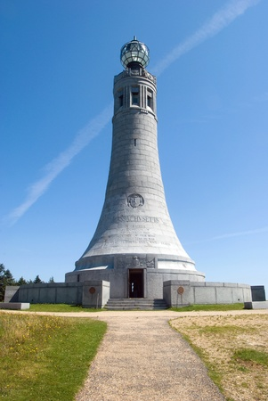 The Veterans War Memorial Tower at the summit of Mount Greylock in Western Massachusetts, USA.