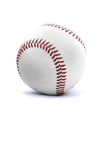 A baseball on a white background - isolated with shadow. Stok Fotoğraf