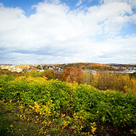 A beautiful autumn landscape from a high vantage point. Stock Photo - 8666880
