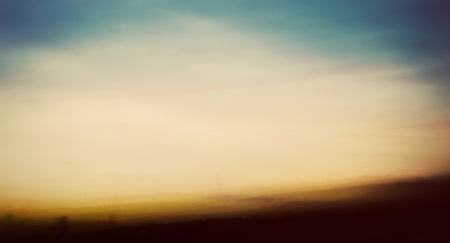 Abstract, long exposure image of a sunset on the beach.