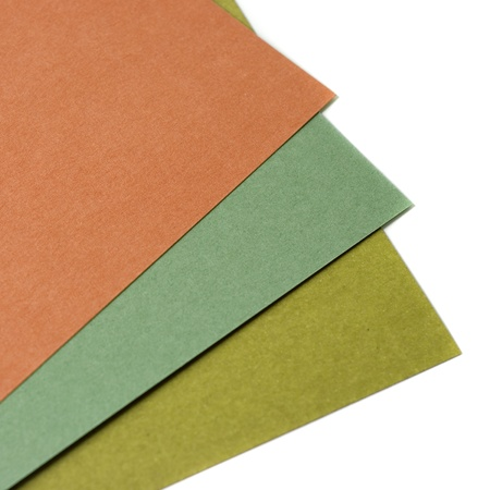 Colorful papers on white