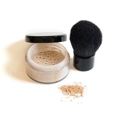 Mineral makeup and brush Stock fotó - 12933615