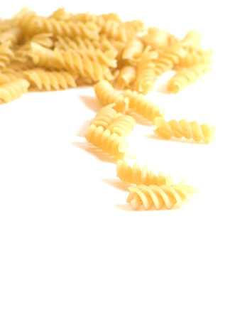 rotini: pila seca de pasta rotini macarrones