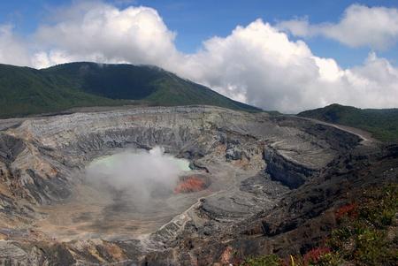 Poas Volcano Crater in Costa Rica 写真素材