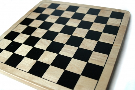 wooden chess checkers board isolated on a white background