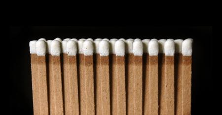 Matches on a black background Stock fotó