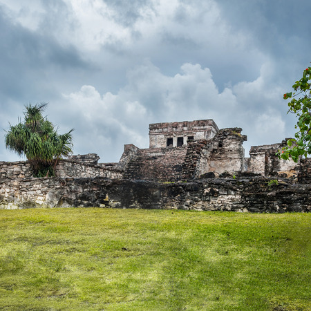 roped off: Tulum Ruins in Mexico