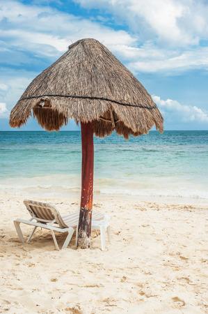 palapa: Palapa umbrella on Mexican beach