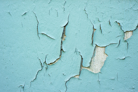 Cracking, peeling, blue paint
