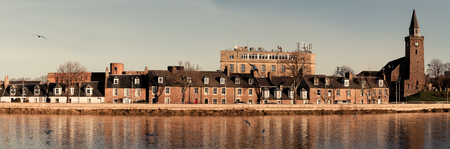 Panoramic picture of the river ness in Inverness Scotland