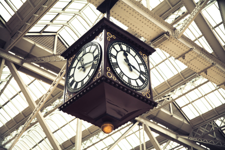 Meeting Point of Glasgow Central Station vintage clock Scotland