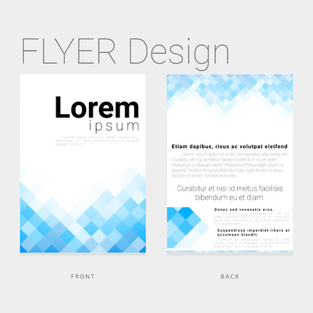 template leaflet in modern style for business and corporate Illustration