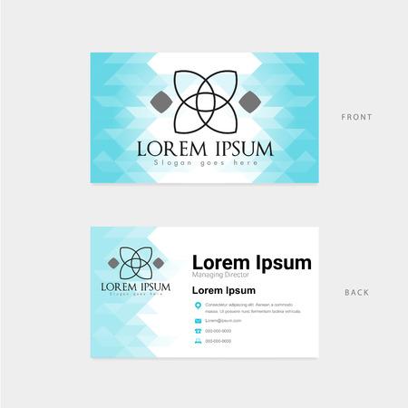 modern template horizontal business card Illustration
