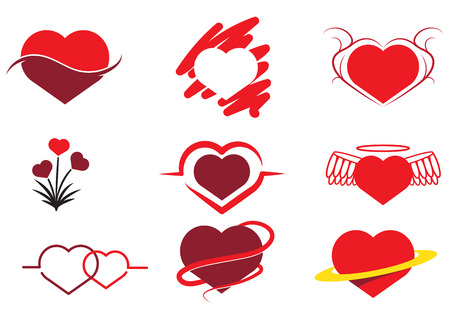 Collection of Abstract heart Иллюстрация