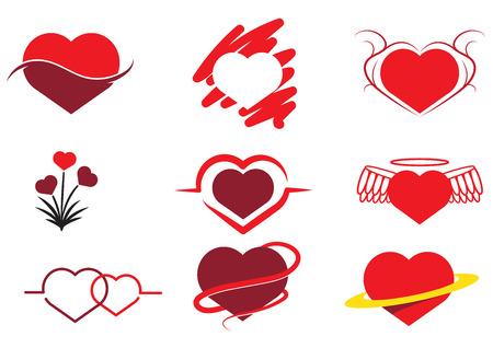 Verzameling van abstracte hart Stock Illustratie