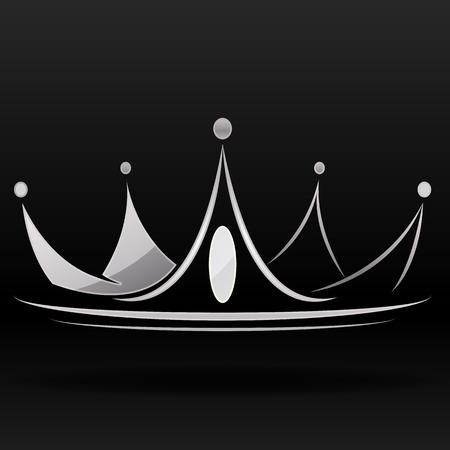 couronne royale: couronne argent vector graphic