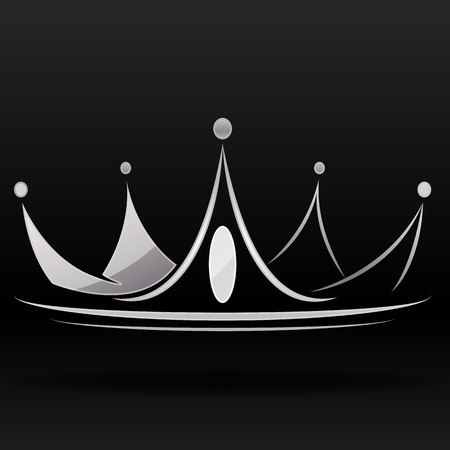 silver crown vector graphic