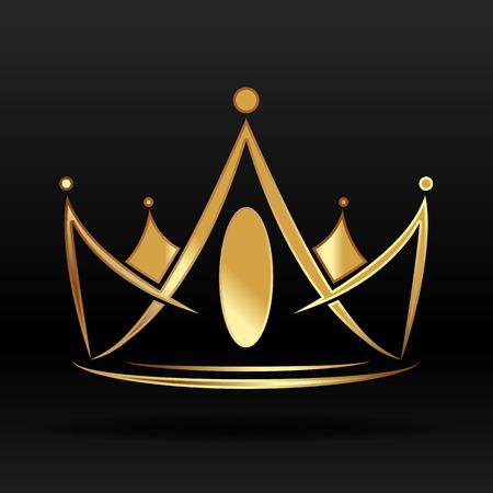 Złota korona grafiki wektorowej