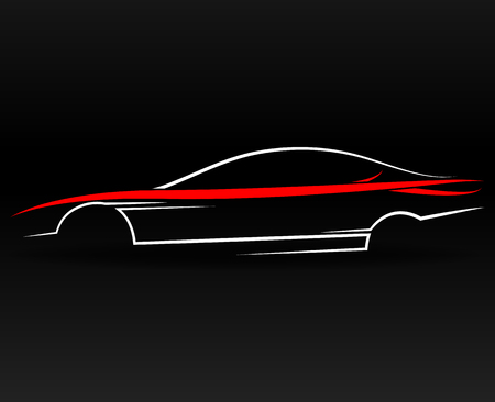 Abstract sports car outline