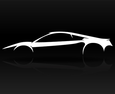 roadster: Concept Sports car Vehicle outlines graphic