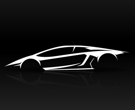 Concept Sports car Vehicle outlines graphic